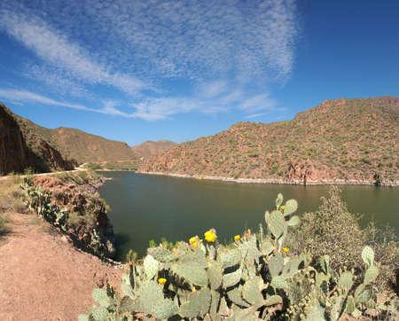 Apache Lake in Sonoran Desert. photo