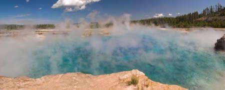 Sapphire Pool in Yellowstone National Park. Фото со стока