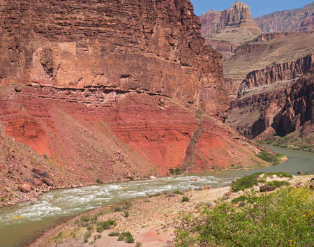 Rafters going through Hance Rapids in Grand Canyon. photo