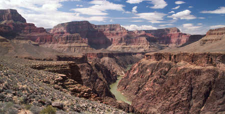 Beautiful view of Grand Canyon and Colorado River. photo