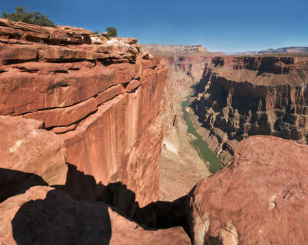 View of Colorado River in Grand Canyon from Toroweap. photo