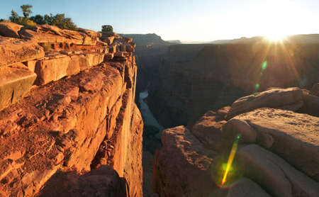 Sunrise over Grand Canyon. photo