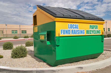 Paper recycling collection site. Stock Photo - 3839521