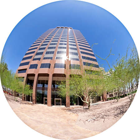 generic location: Office building captured with circular fisheye.