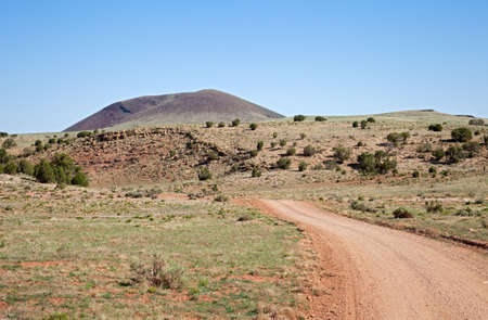 Volcano on Colorado Plateau surrounded by lava and desert. Stock Photo - 5602337