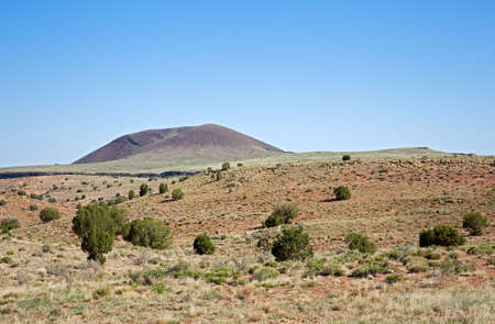 toroweap: Volcano on Colorado Plateau surrounded by lava and desert. Stock Photo