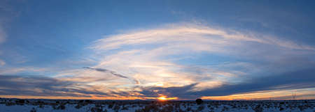 Sunset over Coconino Plateau, in Arizona. Banco de Imagens