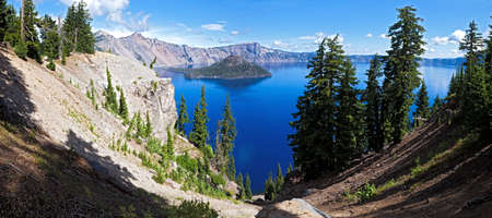 Wizard Island in Crater Lake.
