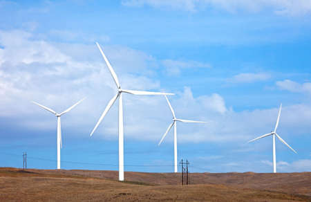 Windturbines in Washington State. Stock Photo - 8250424