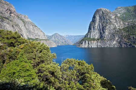 reservoir: Hetch Hetchy Reservoir that provides water for San Francisco. Stock Photo
