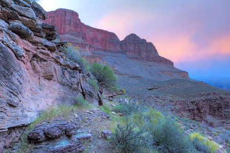wallace: Tyndall Dome and Wallace Butte at sunset