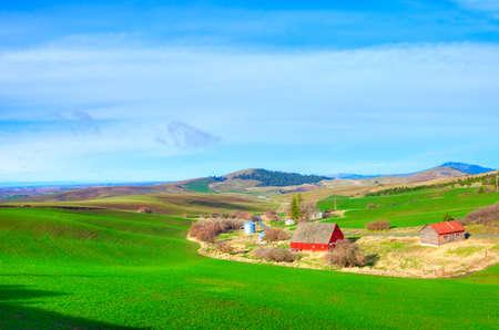 Spring on an Idaho farm  photo