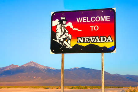 nevada: Welcome to Nevada sign