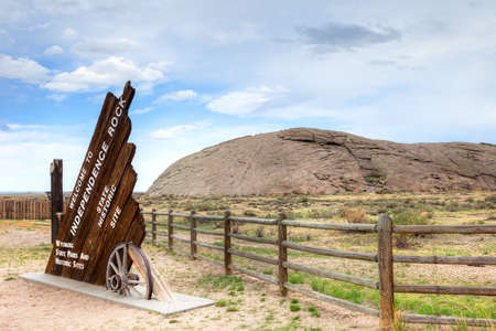 sweetwater: Independence Rock State Historic Site in Wyoming