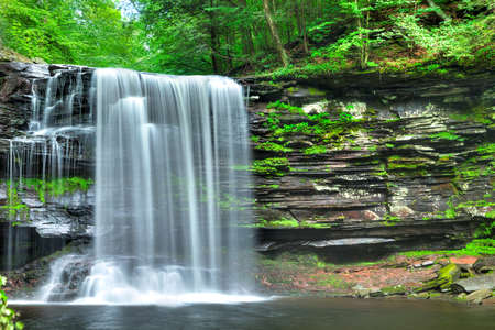 Harrison Wrights Fall in Ricketts Glen. Stock Photo