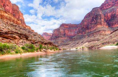 Colorado River flowing through Grand Canyon. Фото со стока