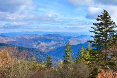 great smoky mountains national park: Great Smoky mountains in autumn. Stock Photo