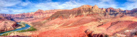 Panorama of Palisades of the Desert, in Grand Canyon  photo
