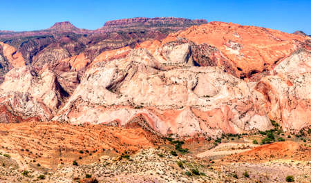 rock layers: Waterpocket Fold in Capitol Reef National Park.