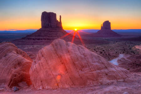 Sunrise over Monument Valley, Navajo Nation.