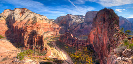 zion: View of Zion Canyon from Angels Landing,in Zion National Park, Utah.