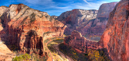 View of Zion Canyon from Angels Landing,in Zion National Park, Utah.