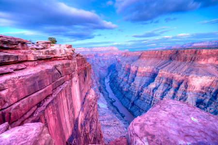hdr: Sunset at Toroweap Point, in Grand Canyon National Park.