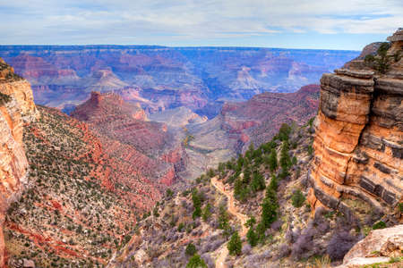 plateau point: Bright Angel Trail in Grand Canyon Natl Park.
