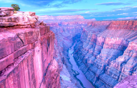 rock canyon: Sunset at Toroweap Point, in Grand Canyon National Park.