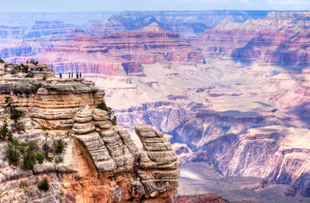 Grand View Point overlook, in Grand Canyon.