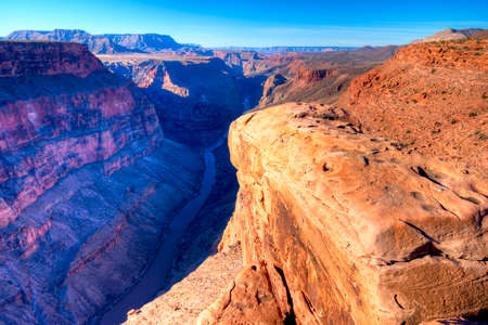 grand canyon national park: Sunrise at Toroweap Point, in Grand Canyon National Park, with Colorado River three quaters of a mile below.