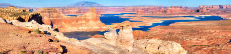 gunsight: Glen Canyon National Recreation Area, Alstrom Point, Lake Powell.