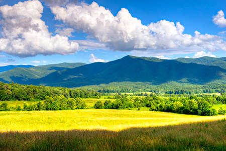 Cades Cove in spring. Great Smoky Mountains National Park.