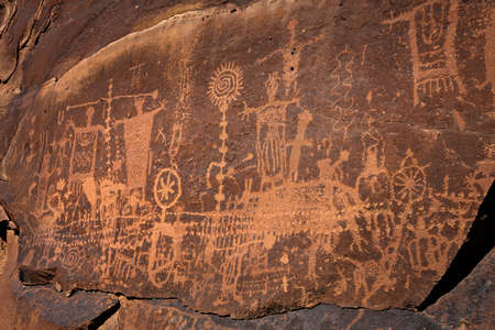 uinta mountains: Petroglyphs in Desolation Canyon.