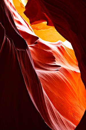 Sunbeams in Upper Antelope Canyon, Arizona, USA - Stock imag