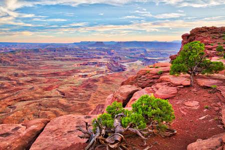 overlook: Green River Overlook in Canyonlands National Park. Stock Photo
