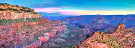 south kaibab trail: South Kaibab Trail at sunrise, in Grand Canyon.