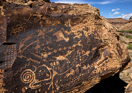 Petroglyphs in Desolation Canyon.