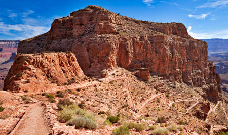 kaibab trail: Switchbacks at Skeleton Point in Grand Canyon.