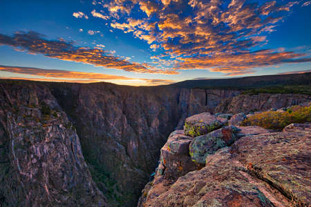 Sunset at Black Canyon of the Gunnison National Park.
