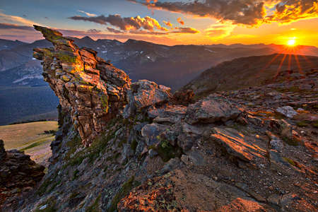 Sunset at Rocky Mountains National Park.