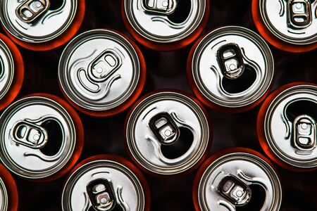 Aluminium red recycle cans. Team leader or Individual concept. One of many. To be special.