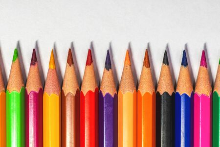 Color pencils on the light background, can be used as illustration or different concepts.
