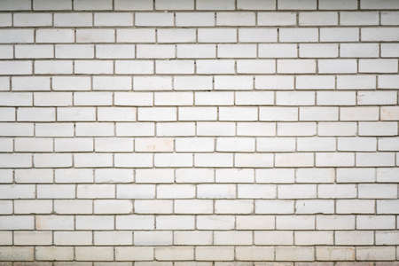 The real old white brick wall texture or pattern. Bricks background for illustration or other using Banque d'images