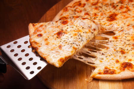 pizza slice: Hot pizza