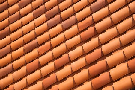 tiled: Red tiled roof background