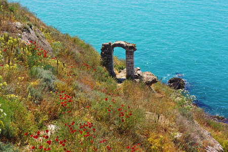 Ruins of ancient greek colony on Kaliakra cape in Bugaria