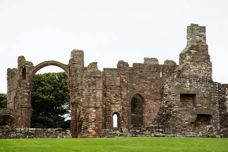 lindisfarne priory in northumberland