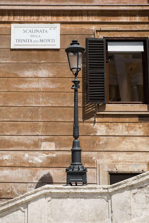 Street lamps in Rome