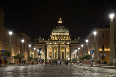 St. Peters dome at night